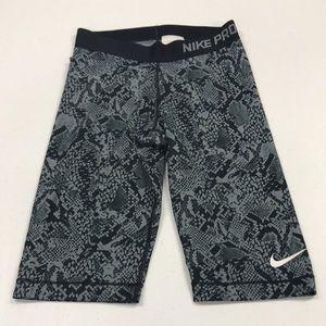 Nike pro full length shorts